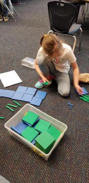 Fun with Base Ten Blocks in Math