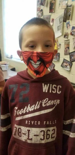 His new mask
