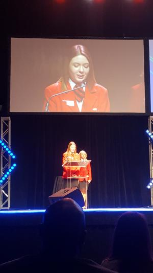 Blair speaking as state officer @ Oklahoma FCCLA Convention