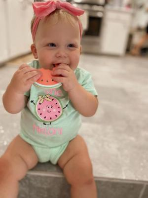 Halle Kate is 1 in a melon!