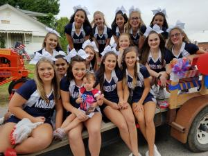Varsity at 4th of July Parade 2016