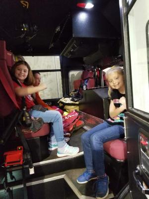In the firetruck