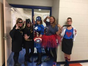 Super heroes....just another day at school!