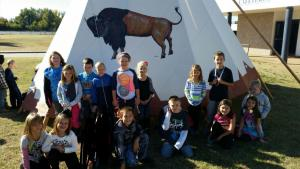 TEEPEE AT MIDDLE SCHOOL