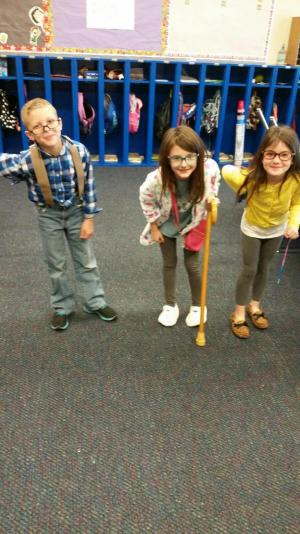 100th day of school - Who are these old people & why are they in my class?!