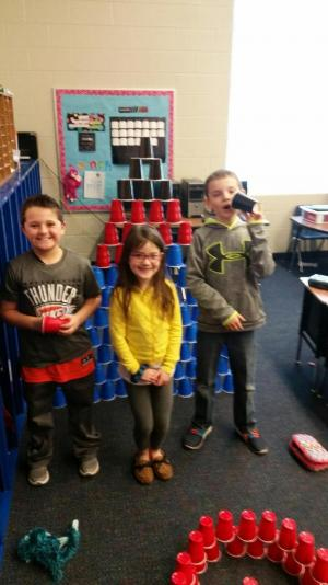 100th day of school - Build with 100 cups