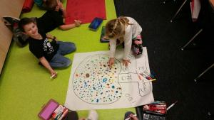 100th day of school - Draw 100 gumballs