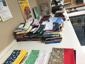 FCS Classes made a total of 120 pillowcases!