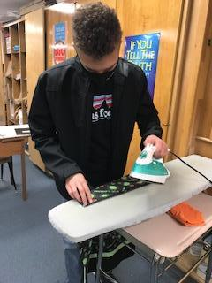 Ironing, an important skill learned!
