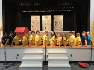 Stagecraft and their set of You're a Good Man, Charlie Brown
