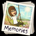 Bitmoji Memories on Swing black background