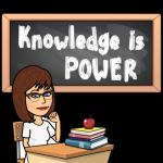 Bitmoji Knowledge is Power black background