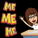 Bitmoji Me Me Me black background