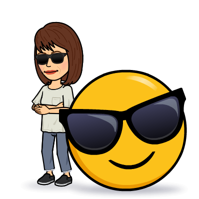 Bitmoji Smiley with Sunglasses
