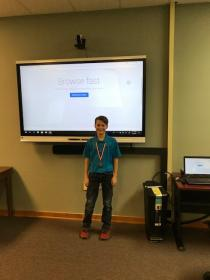 Reading Fair Winner-Reed McGee-1st Place-7th Grade Technology presentation