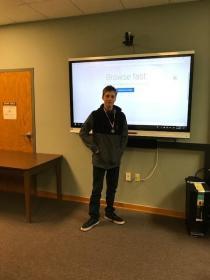 Reading Fair Winner-Donevin Tedder-2nd Place-9th Grade Technology presentation