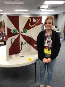 Reading Fair Winner-Jaden Miller-3rd Place-9th Grade Board Fiction presentation