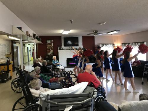 cheer at nursing home