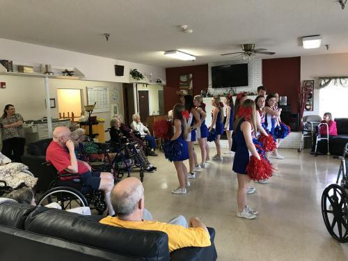 CHS cheer nursing home visit