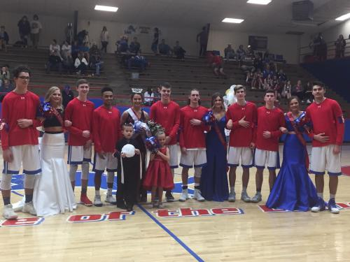 2018 Basketball Homecoming Court