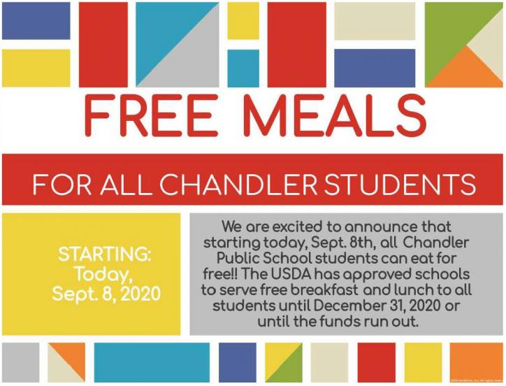 Free meals for all Chandler Students