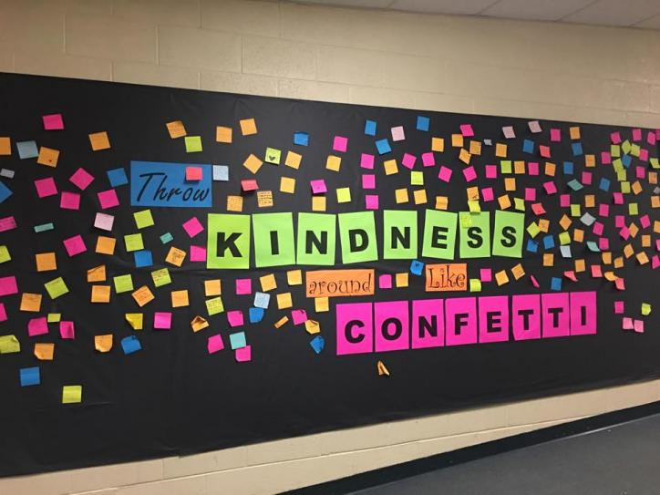 Kindness Bulletin Board at Park Road