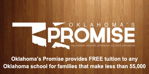 Oklahoma's Promise provides free tuition to families that make less than $55,000