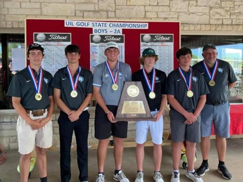 2021 2A Boys Golf Champs Photo