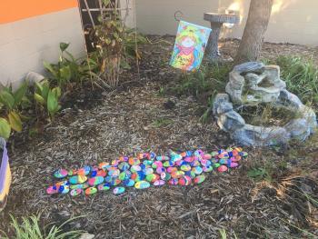 rocks in the elementary garden