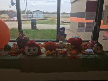 To kick off our school book fair we had several students use their creativity and imagination to make storybook pumpkins. Each pumpkin is a character from a book.