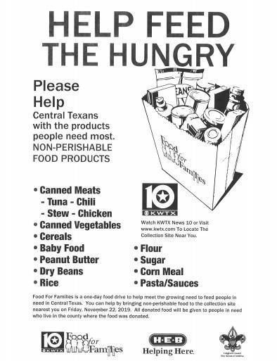 Food Drive Description