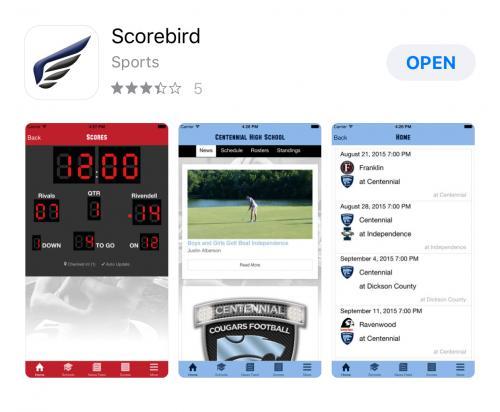 Scorebird app