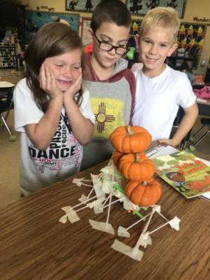 Winners! Their table held 4 pumpkins. Way to go!
