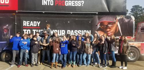 Taylor High School Students attend the Be Pro Be Proud Arkansas Tour @ Magnolia High School on January 30, 2019