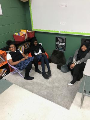 The Reading Nook in Mrs. Stewart's Classroom