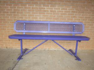 Our thanks to First State Bank for the trash containers and purple benches at the elementary School!