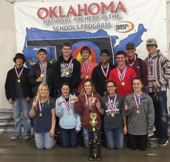 2018 Oklahoma Team Archery Champions! The Elmore City-Pernell Badgers!!