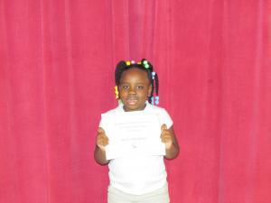 2nd Grade Winner: Aurionna Green