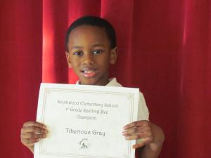 1st Grade Winner: Tiberious Gray