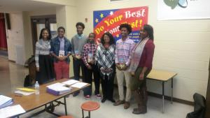 From left to right: Mrs. Denesha Evans-Teacher (PBHS), Kylan Weatherspoon, Damonte' Johnson, Shauwn Howell, Ms. Vivian Washington (Southwood) Brandon Thomas and Ms. Shavonna Jones-Teacher (PBHS)