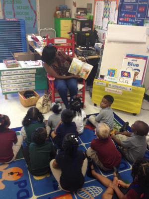 READING DAY!!! Parent read aloud Thank you Aiyanna's grandmother for reading to us.