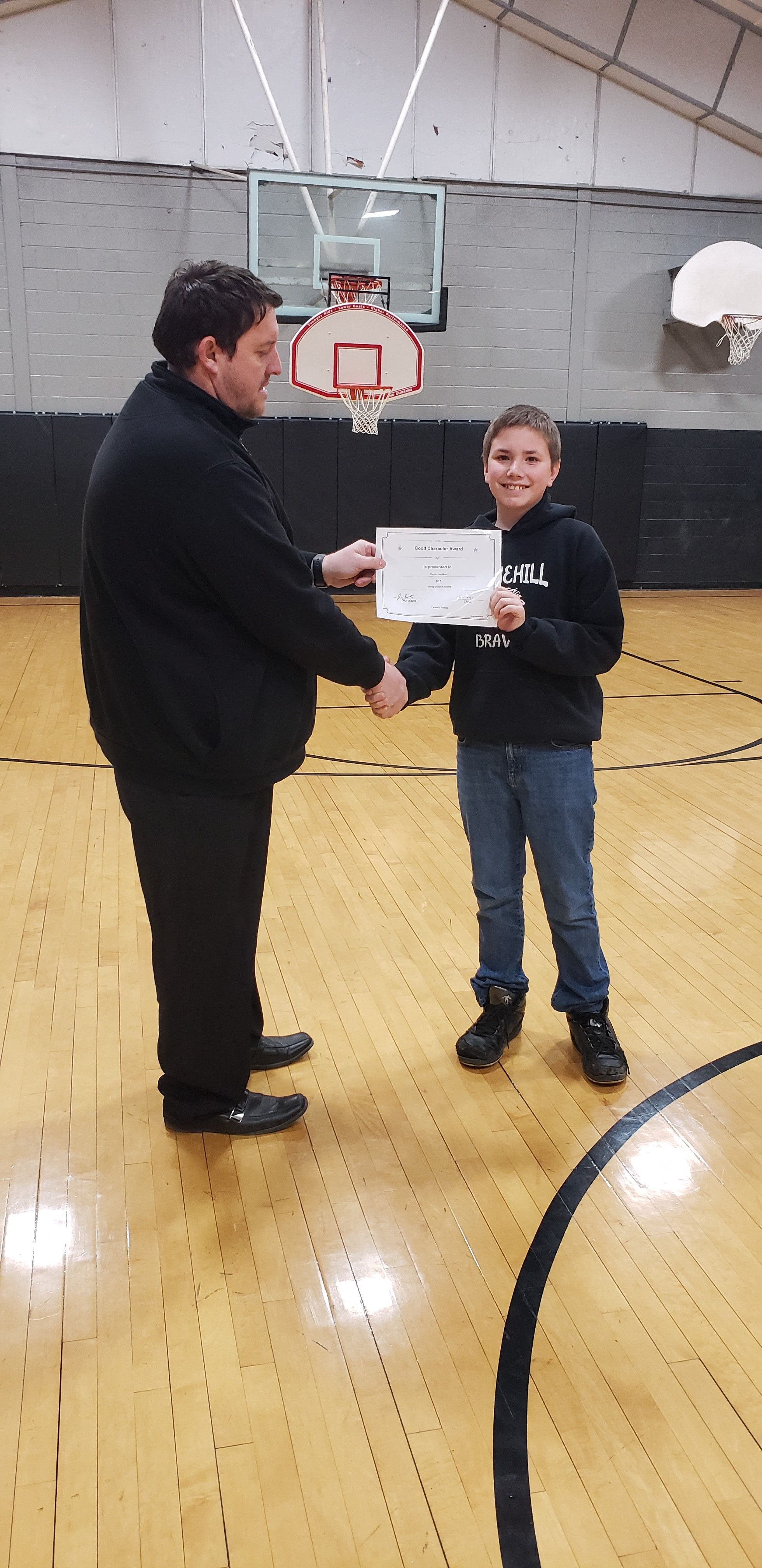February Good Character of the Month: 7th Grade Dayton Hartsfield