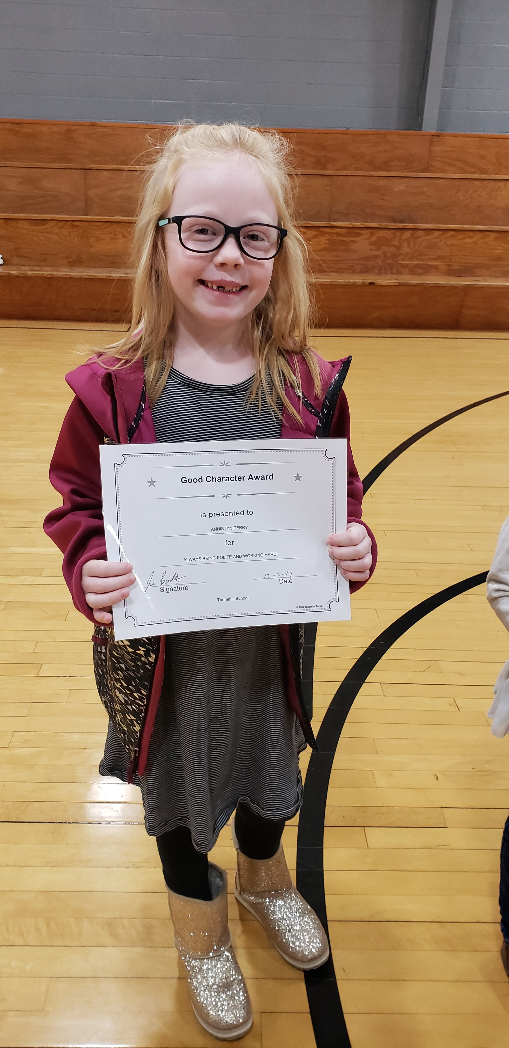 November Good Character of the Month: Annistynn Perry