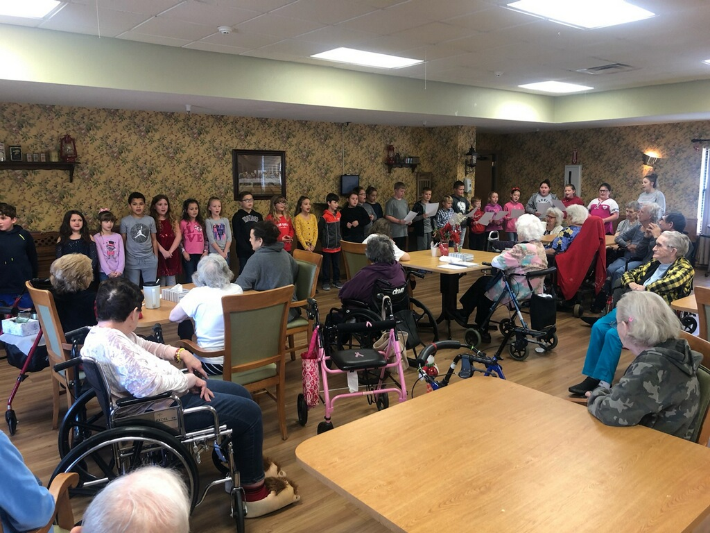 2nd-4th Grade Singing Christmas Carols to Walnut Grove residents