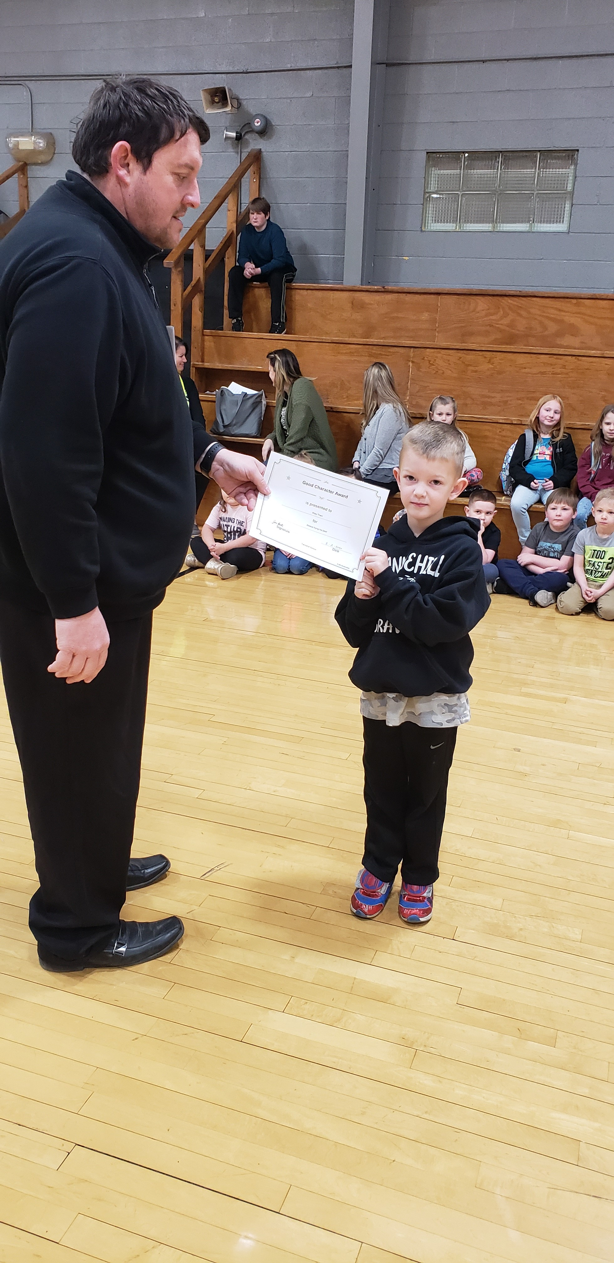 February Good Character of the Month: Pre-K Riley Thain