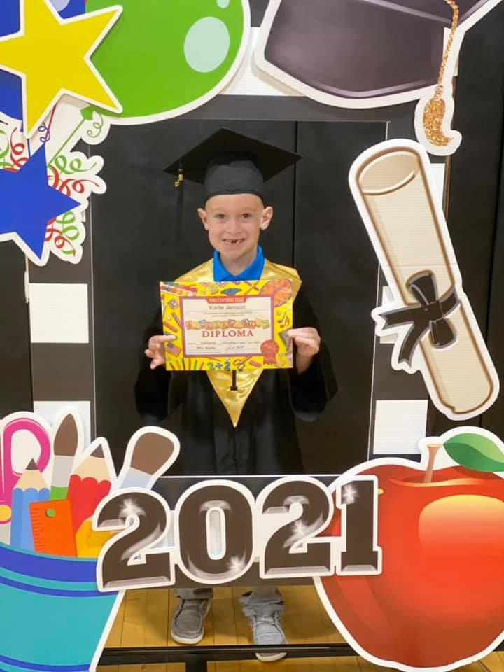 Kindergarten Graduate Kade Jensen
