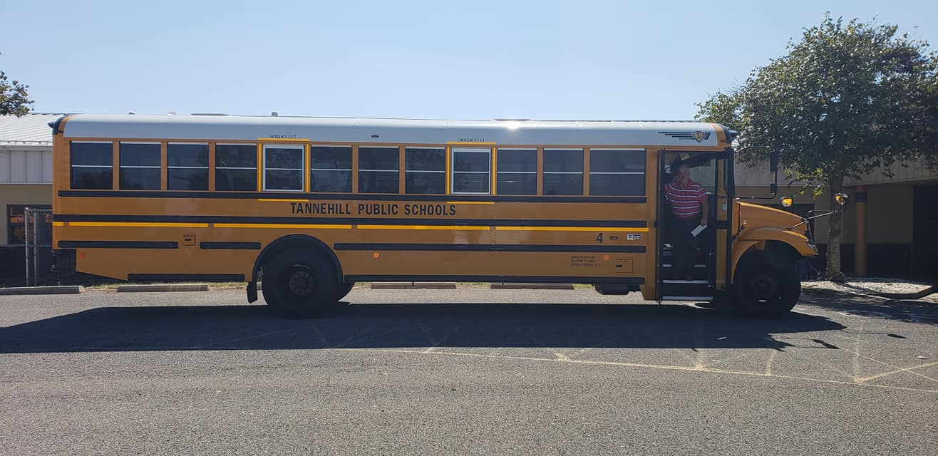A brand new bus for Tannehill School!