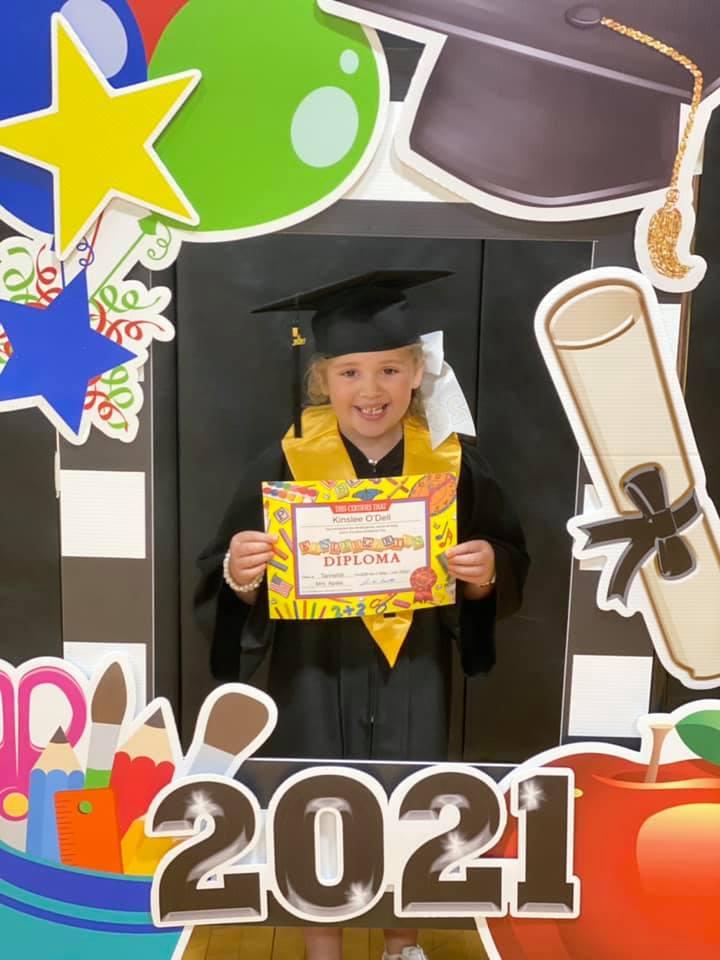 Kindergarten Graduate Kinslee O'Dell