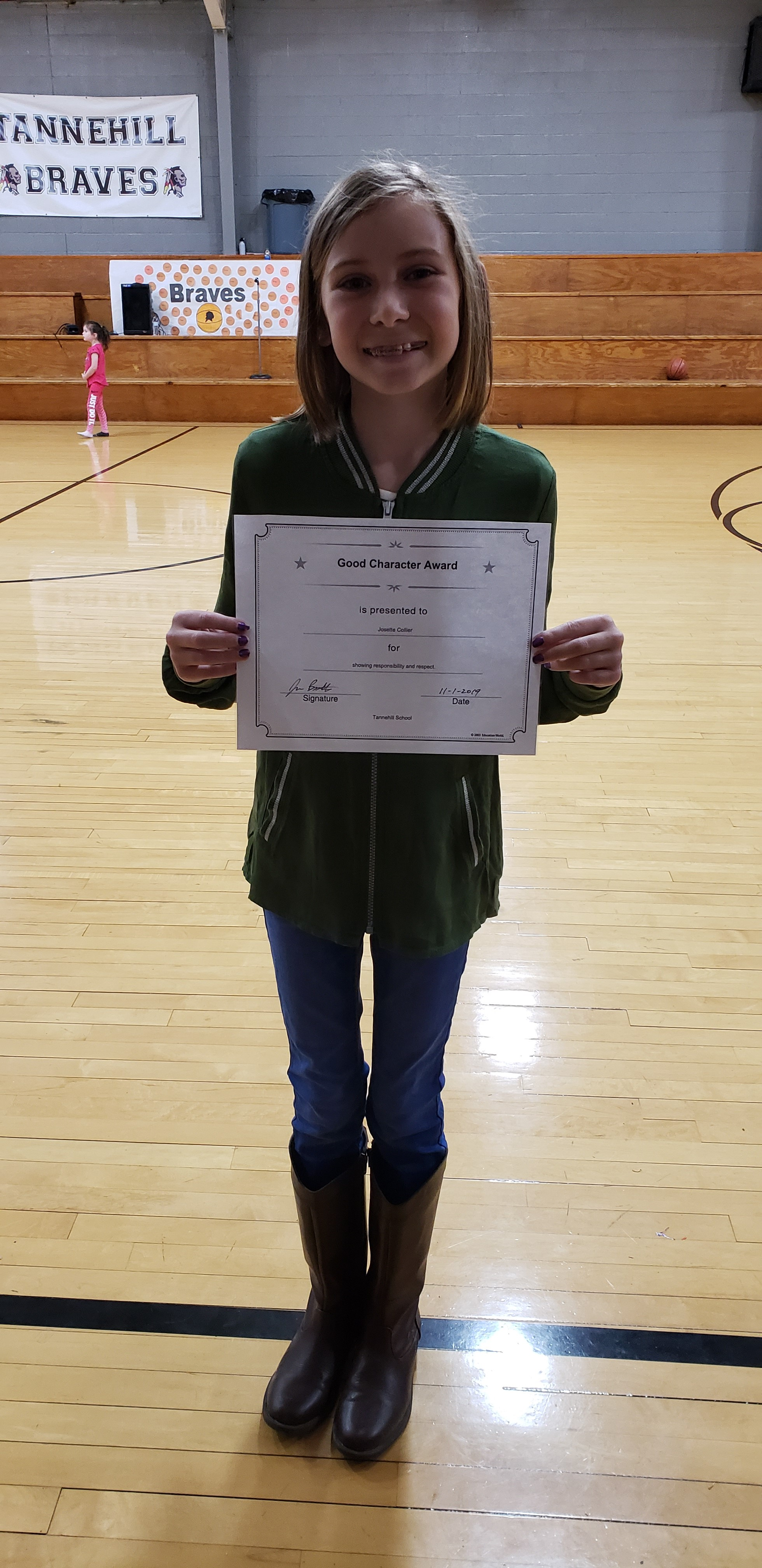 October Good Character of the Month: Josie Colllier