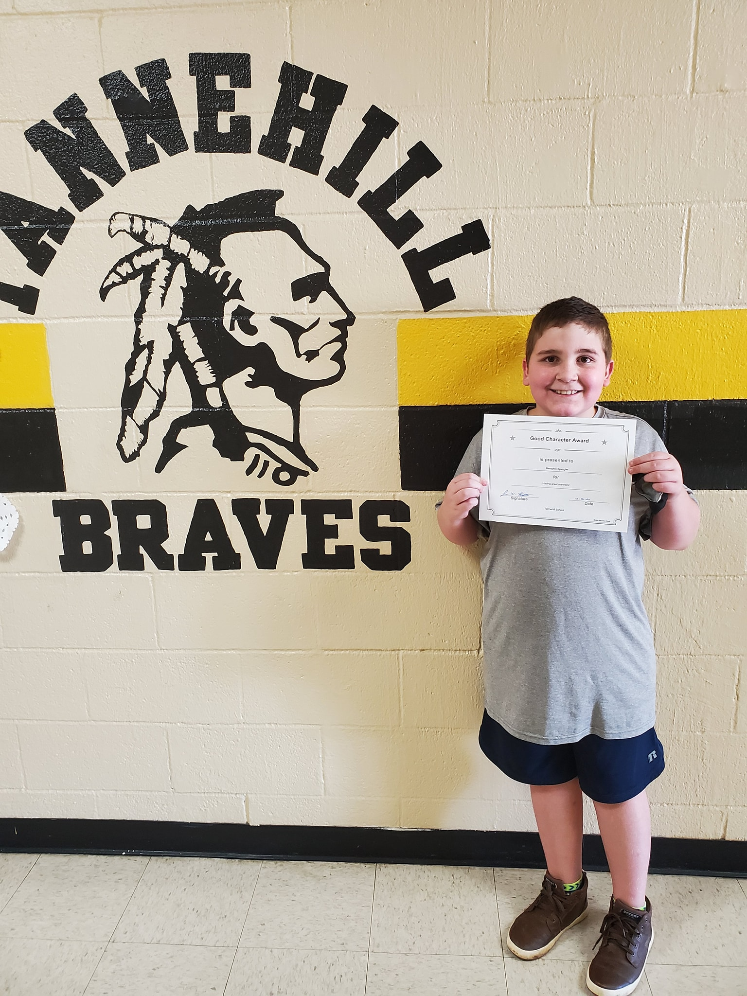 October Good Character of the Month: Memphis Spangler